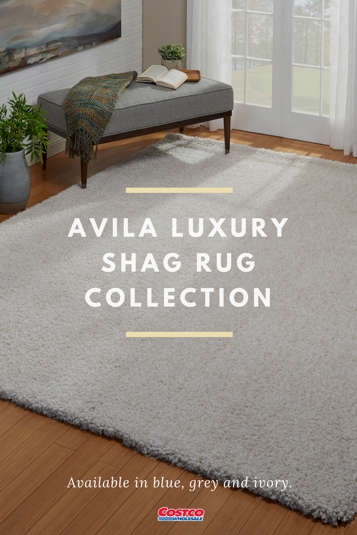 Avila Luxury Shag Rugs Are Amazingly Soft And Perfect For A Bedroom Or Living Room Avila Features Luxurious Luxury Living Room Solid Color Area Rugs Shag Rug
