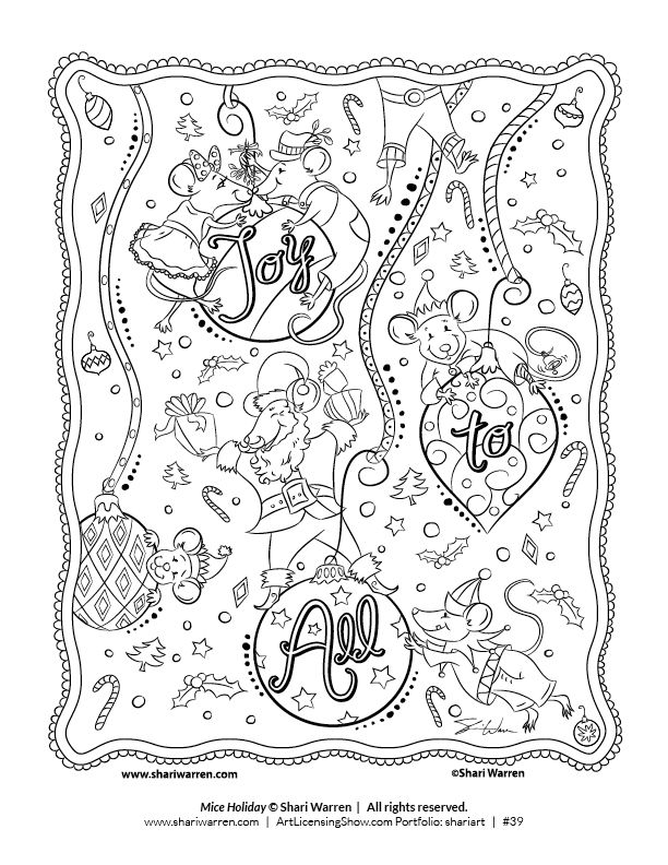 Free 92 Page Holiday Coloring Book Artlicensingshow Com Your 24 7 Virtual Art Licensing Show Holiday Coloring Book Coloring Books Love Coloring Pages