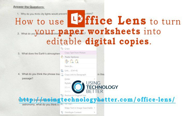 Office Lens App An Essential Tool For Your Teacher Toolkit