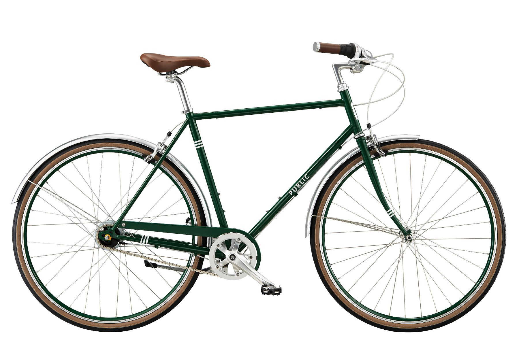 Public d8i commuter bike green