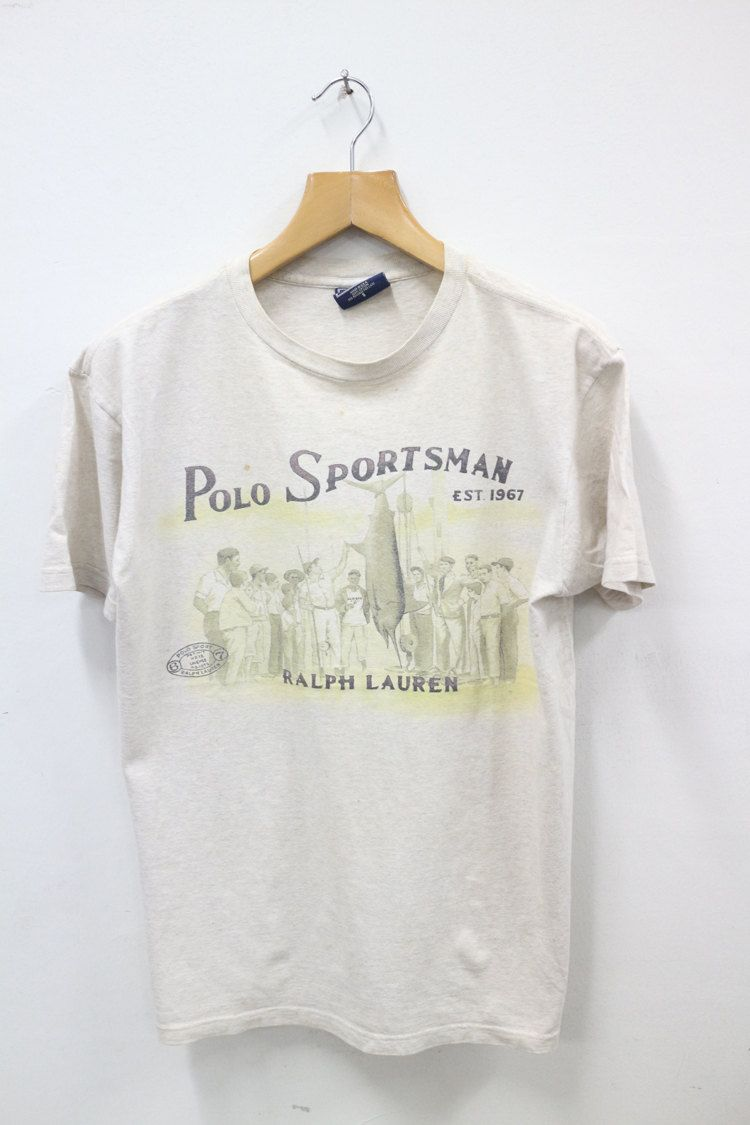 8f237ac59 Vintage 90s Polo Sportsman By Ralph Lauren Sportsman Fishing P-Wing Stadium  Tee T Shirt (100.00 USD) by SellVintageClothings