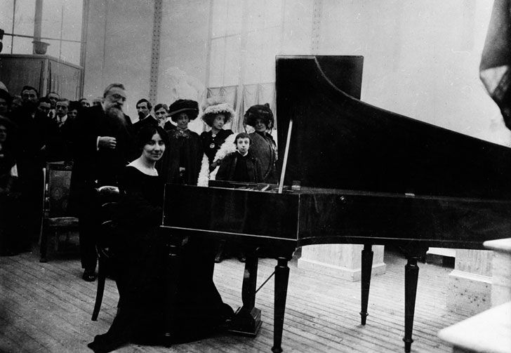 Wanda Landowska at a Concert at Auguste Rodin's House  She