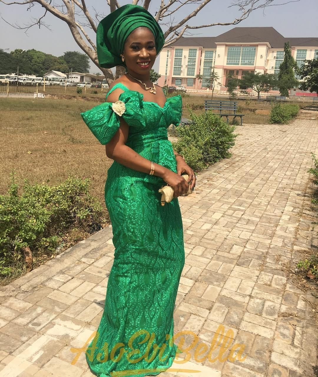 Lace dress styles 2018  Green AsoEbi Lace Outfits   Fashion and Lifestyle Blog