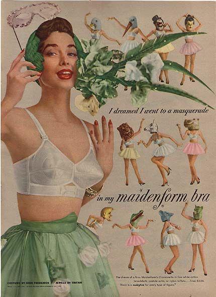vintage bra ad