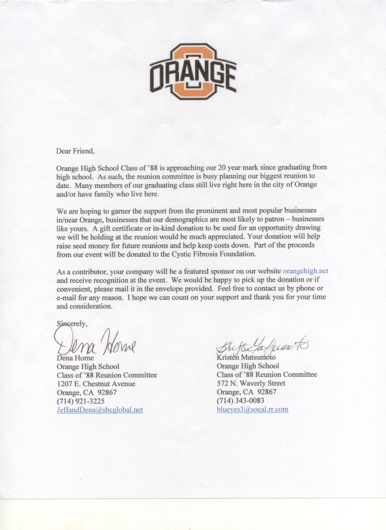 Letter How Write Charity Letters Asking For Donations Sample