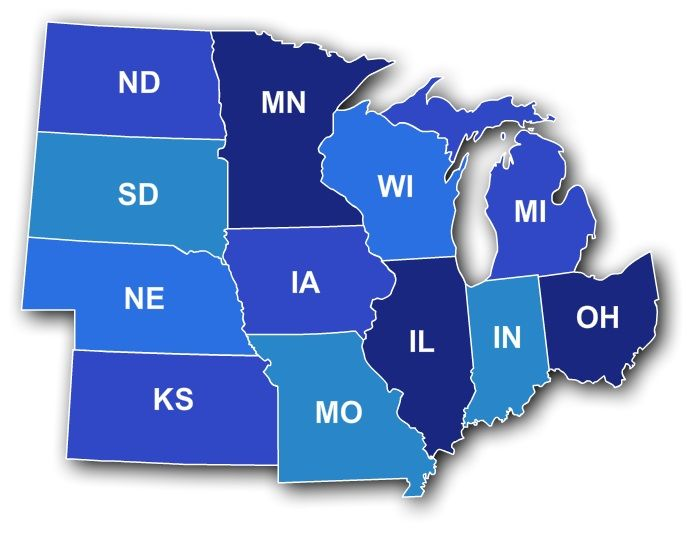 The Midwestern United States Also Referred To As The American - Us map of midwest states