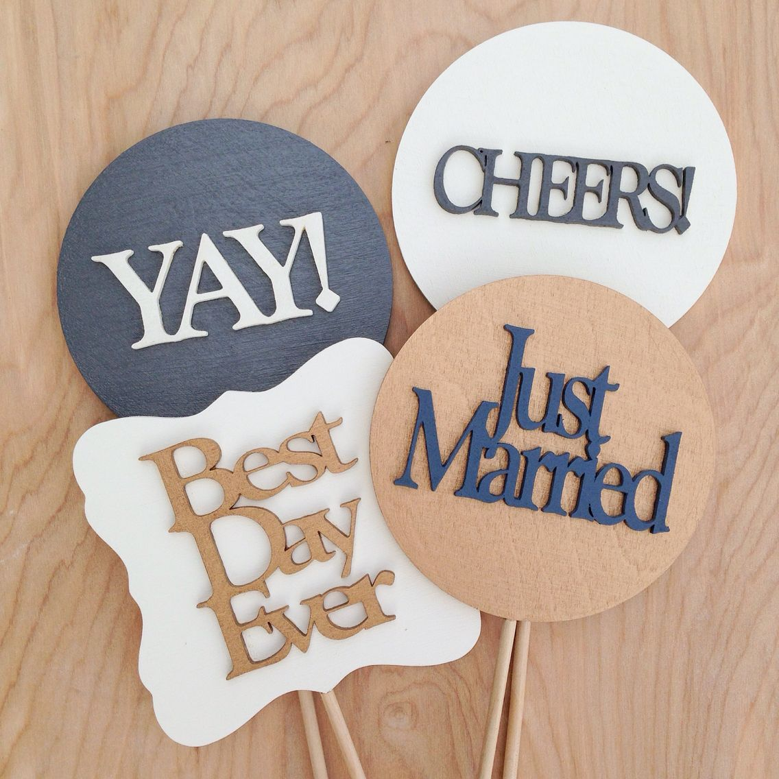 Custom photo booth props available via yaydetails etsy