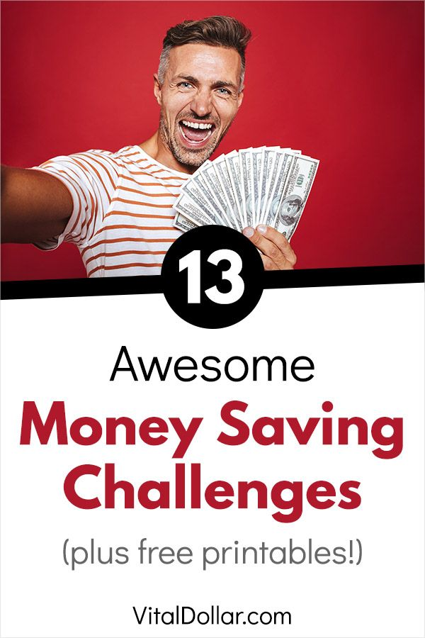 13 Awesome Money Saving Challenges #financenestegg