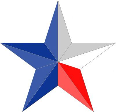 Red White Blue Star Texas Star Lone Star Tattoo Custom Temporary Tattoos