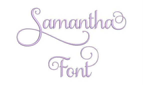 Samantha Set 1 Machine Embroidery Designs 3 Size by moreusemb