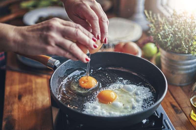 Huhn und Brot der Lebensdiät