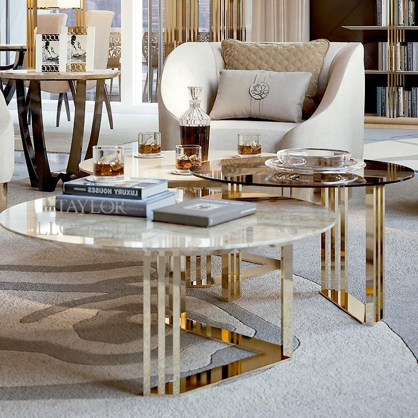 24ct gold coffee tables trio taylor