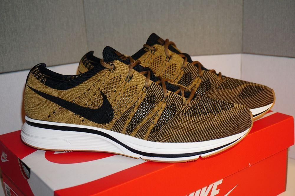 Nike Flyknit Trainer Golden Beige Black Size 9.5 US Men