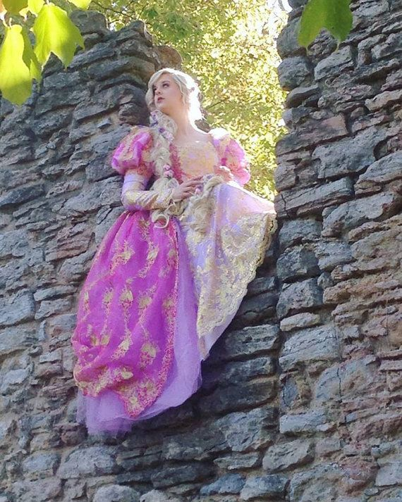Rapunzel Tangled Upscale Fantasy Sparkle Gown by RomanticThreads