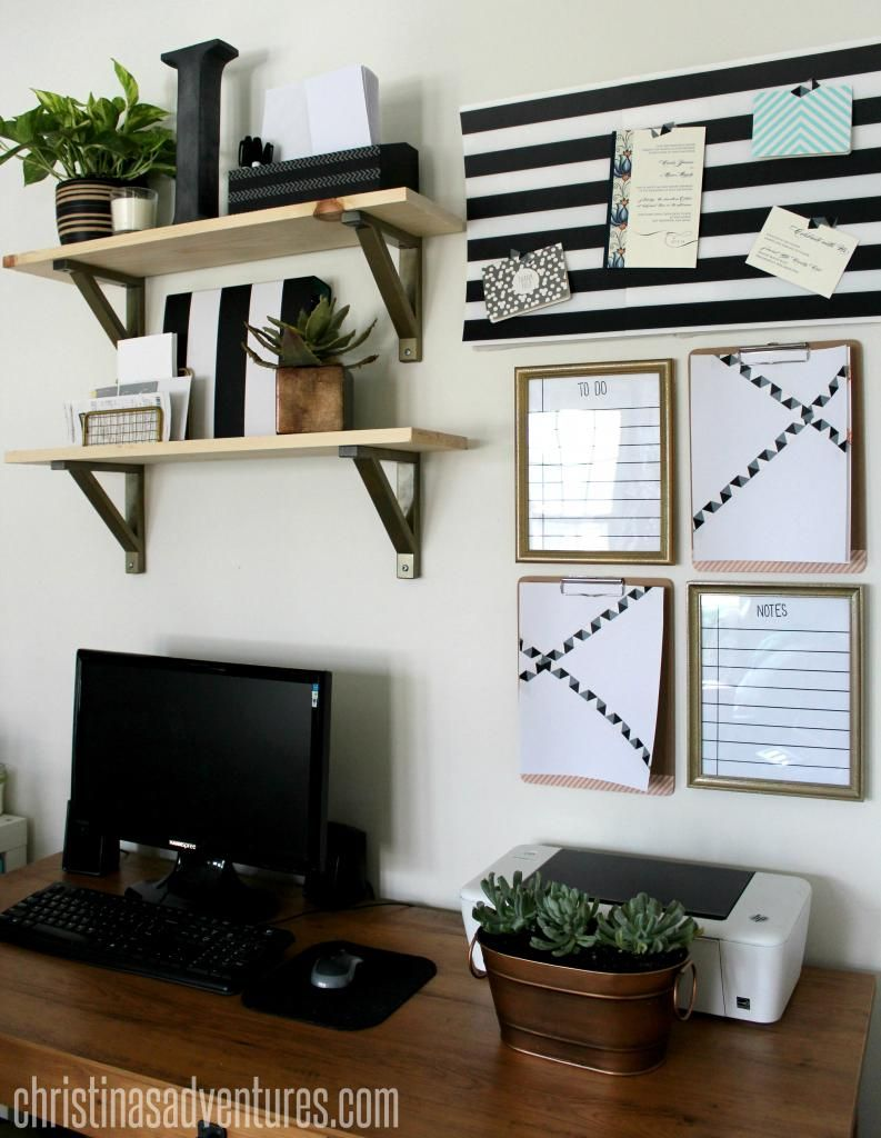Small Home Office Decorating Ideas | Organizations, Office spaces ...