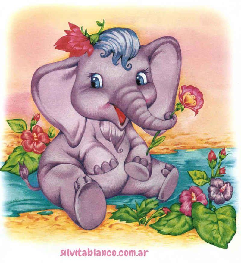 Открытка днем, слоненок открытки