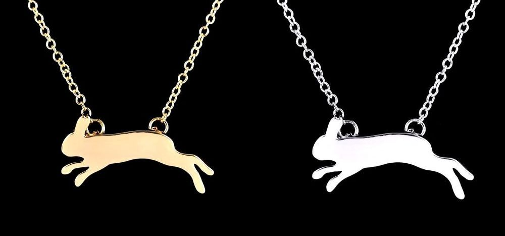 Details About Rabbit Bunny Running Hare Necklace In Free Gift Bag