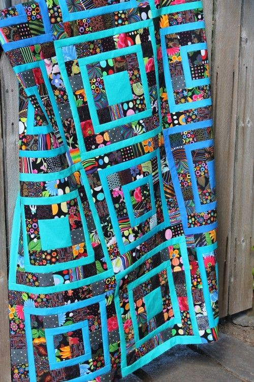 Black Scrap Quilt Two Blocks Combine For This Quilt They Re 16 Square Once Sewn Together With The Other Blocks Scrap Quilt Patterns Quilts Quilt Patterns