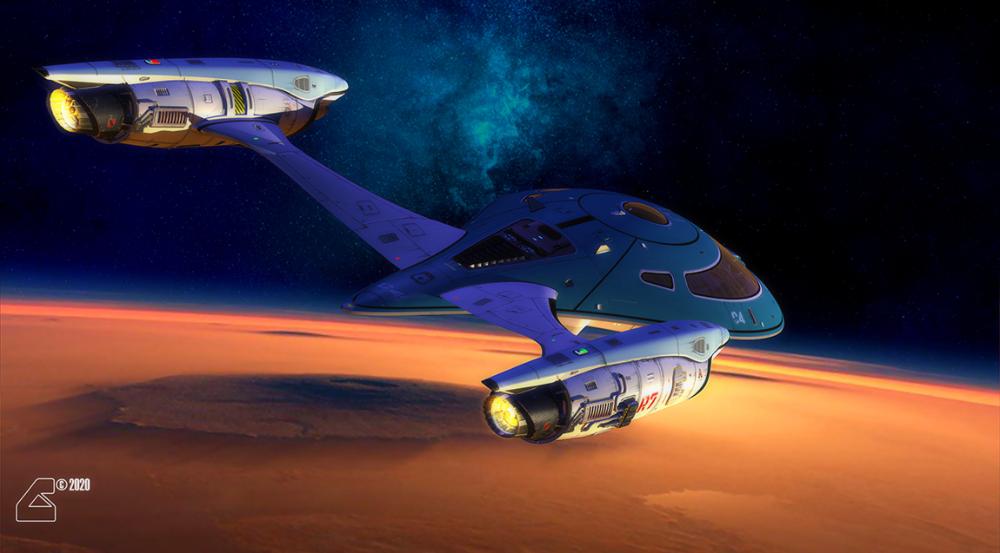 Yachting Over Mars By Robcaswell On Deviantart Star Trek Characters Star Trek Starships Star Trek Universe