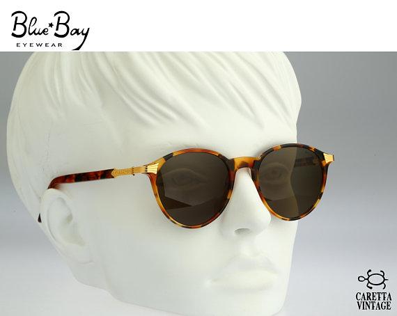 2fcb46bbed amp  778 Rolling Vintage 105 Bay Sunglasses 90s Round Blue Women Mens  zqnUa7xO
