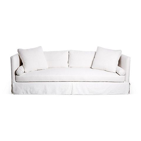 Oliver Slipcover Sofa White Linen 2 795 00 Decorating Mistakes