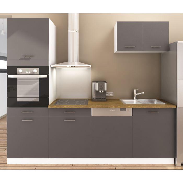 cuisine grise et bois - Recherche Google cuisine Pinterest - peindre un meuble laque blanc