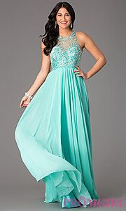 Buy Full Length High Neck Dress by Faviana at PromGirl