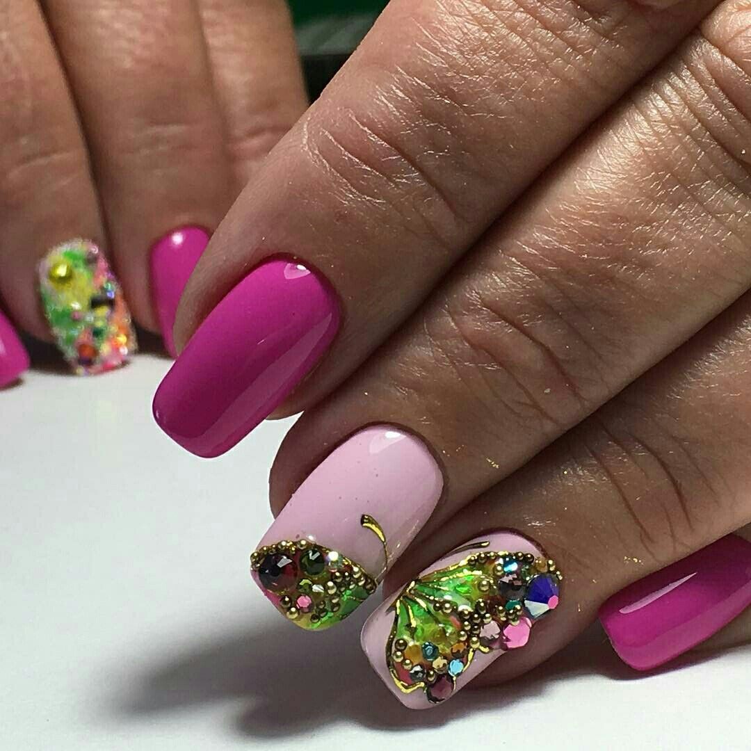 Colourful Butterfly Nail Art | BEAUTY // NAILS #### 7 | Pinterest ...