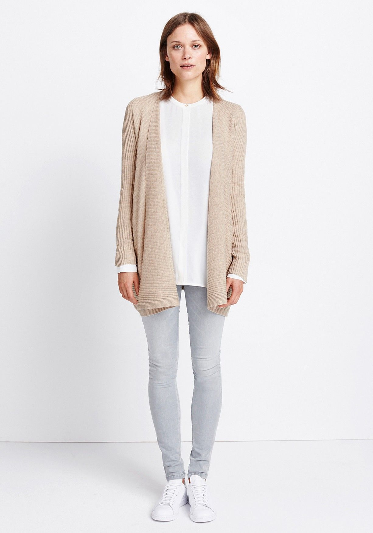 Womens outfit Sporty Cardigan by someday Fashion: white blouse ...