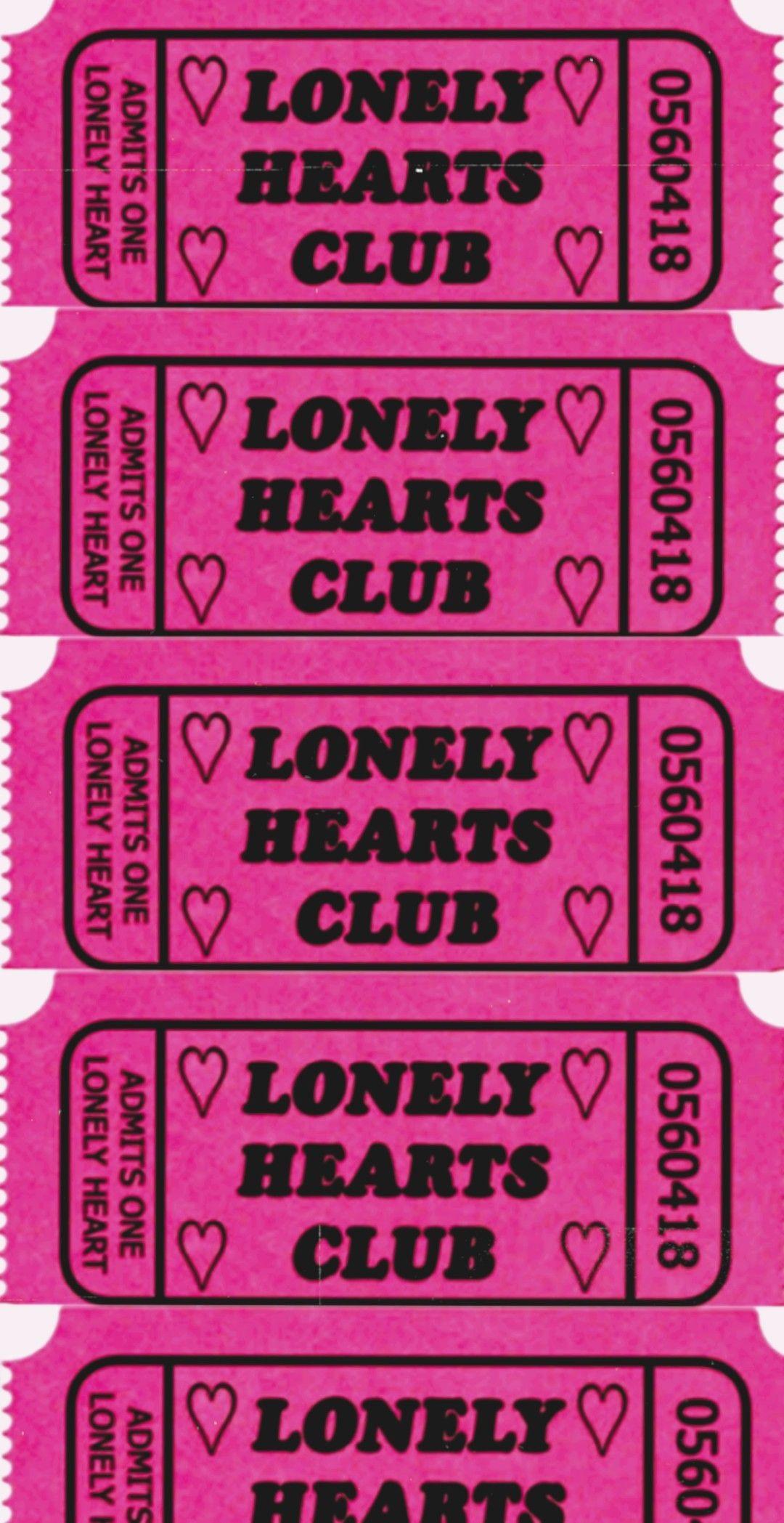 vintage retro y2k lonely hearts wallpaper