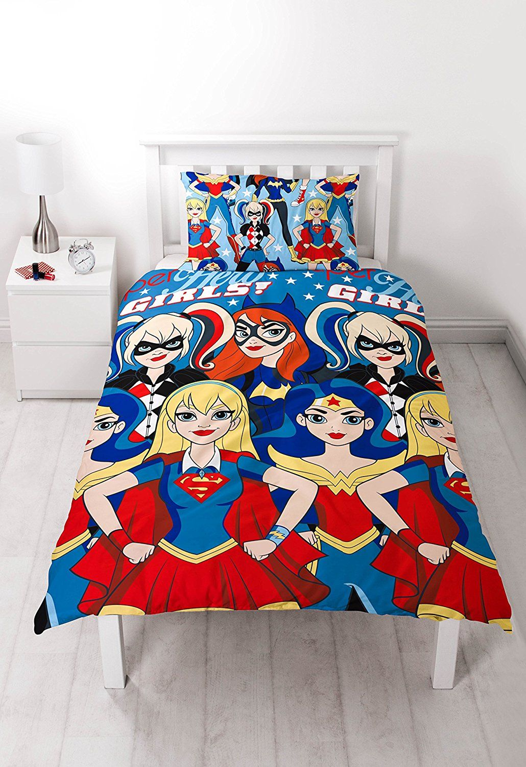 Amazon Com Dc Super Hero Girls Uk Single Us Twin Duvet Cover And