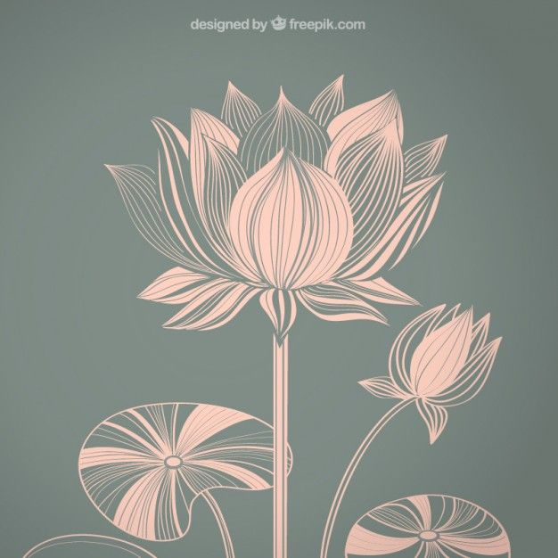 Lotus Vectors Photos And Psd Files Free Download Art Nouveau