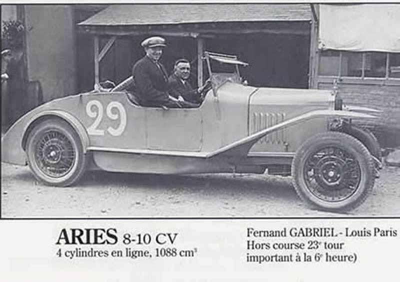 LE MANS 1927 Aries 8-10cv  #29