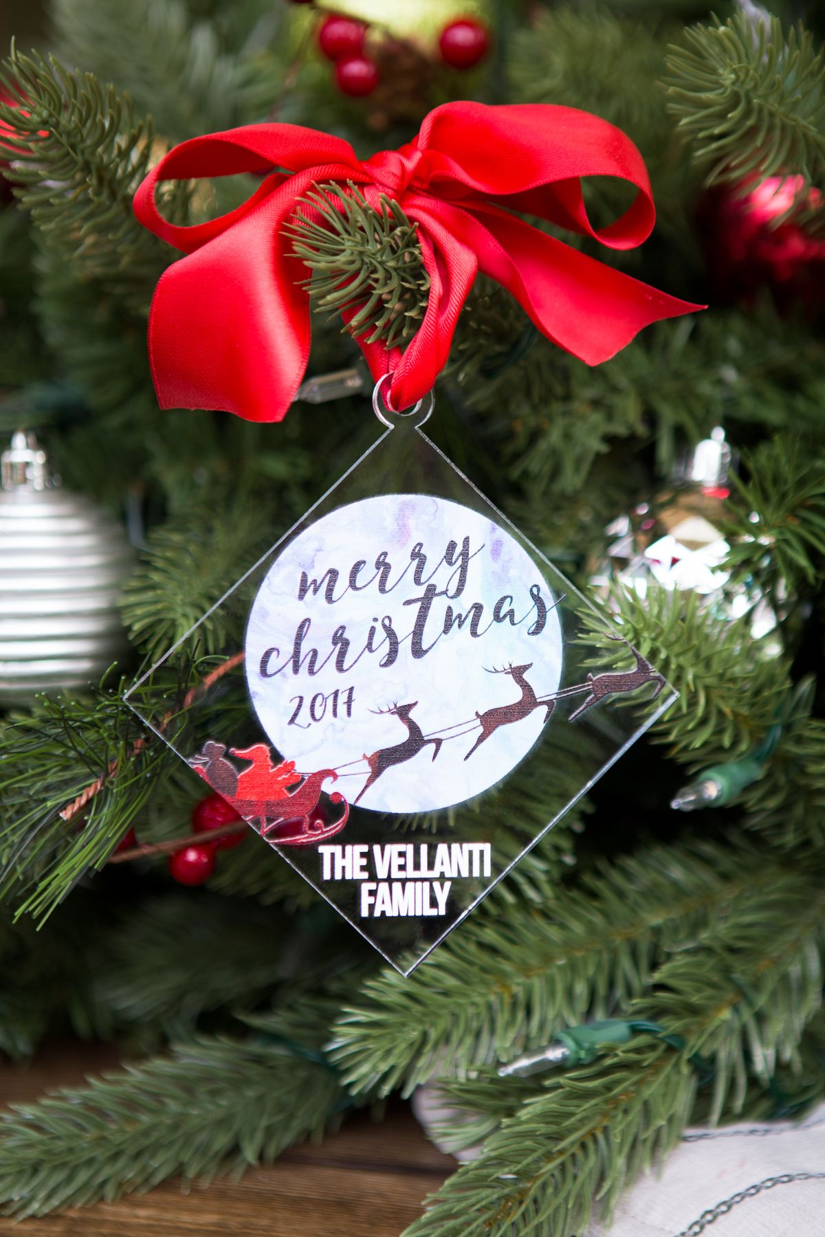 Personalized Modern Family Christmas Ornament | Shop Handmade Gifts ...