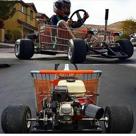 Shopping Cart Racer Go Kart Diy Go Kart Pedal Cars