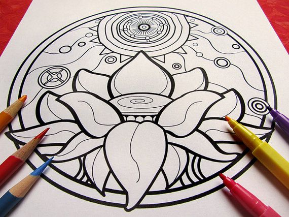 Color Your Way To A Peaceful State Of Mind This Mandala Coloring Page Is Perfect For Both Kids And Grown Ups Looking Find Relaxation Fun