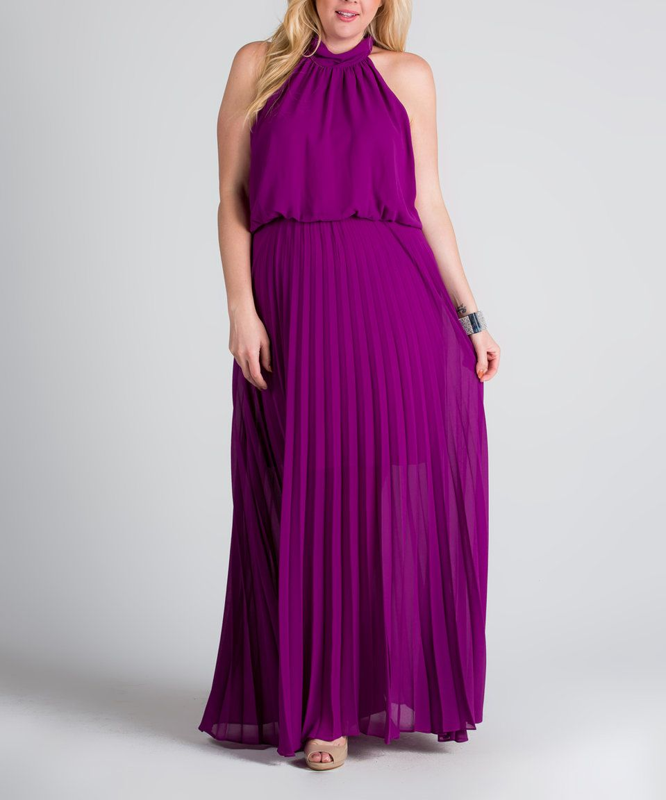 Take a look at this magenta pleated maxi dress plus today my