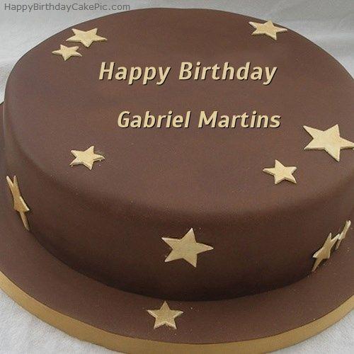 Write Name On Chocolate Stars Birthday Cake In 2019