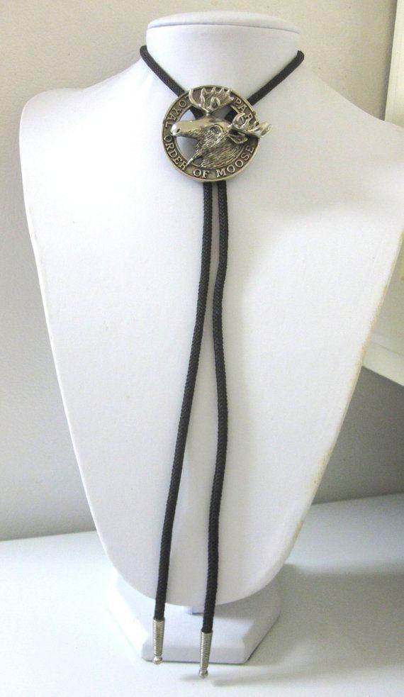 Moose Bolo Necktie Western String Tie | Products | Bolo ...