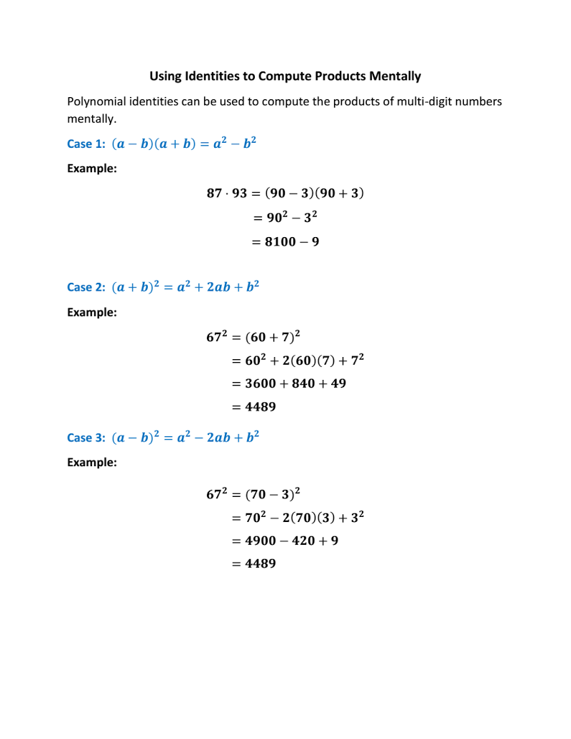 Demonstrate to students how they can apply polynomial