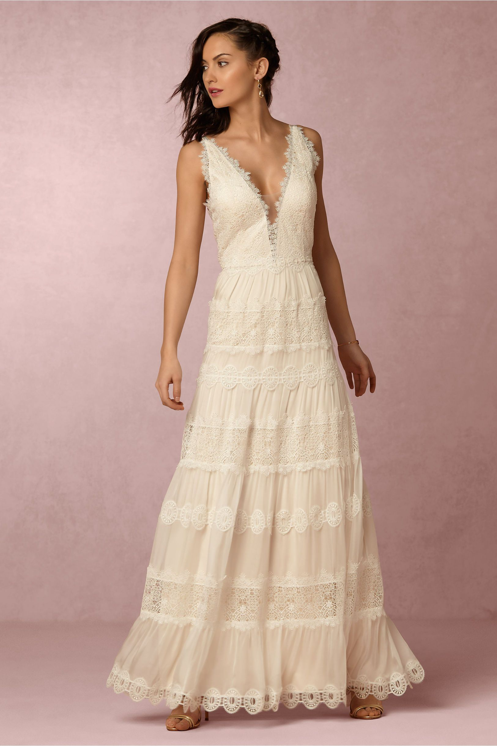 lace backless wedding dress | Genevieve Gown by Catherine Deane for ...