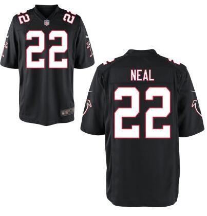 0e141b481 Men s Atlanta Falcons  22 Keanu Neal Nike Black Elite 2016 Draft Pick Jersey