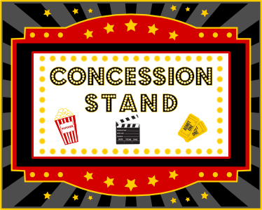 photograph about Concession Stand Signs Printable referred to as Concession stand printable backdrop Celebration Online games and
