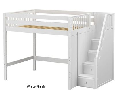 Maxtrix Enormous High Loft Bed With Stairs Bed Frames Matrix Furniture Low Loft Beds Bunk Beds With Stairs Loft Spaces