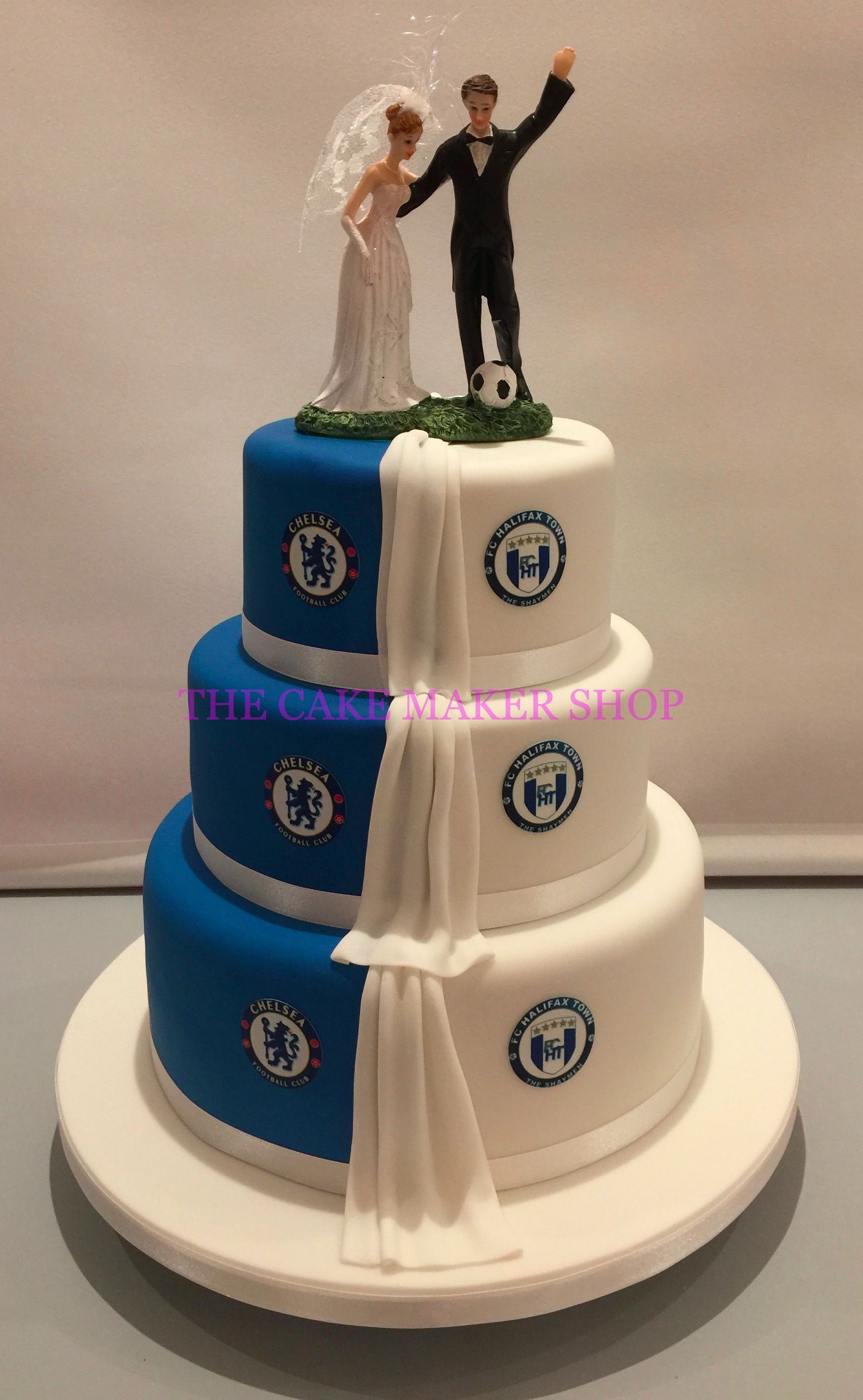half and football wedding cake chelsea vs halifax town wedding cake tortas de 15038