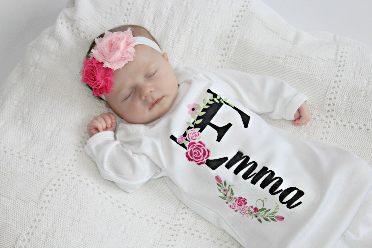 Personalized baby gift girl newborn girl coming home outfit personalized baby gift girl newborn girl coming home outfit personalized baby girl clothes baby clothes infant gown baby outfit by sassylocks on etsy negle Gallery