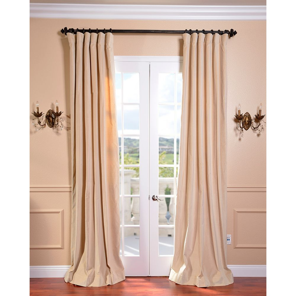 British Tan Vintage Cotton Velvet Curtain - Overstock™ Shopping - Great Deals on EFF Curtains