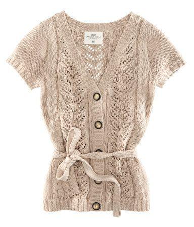 loose knit | distinctive button | tie waist | pair with baby blue! | hm.com