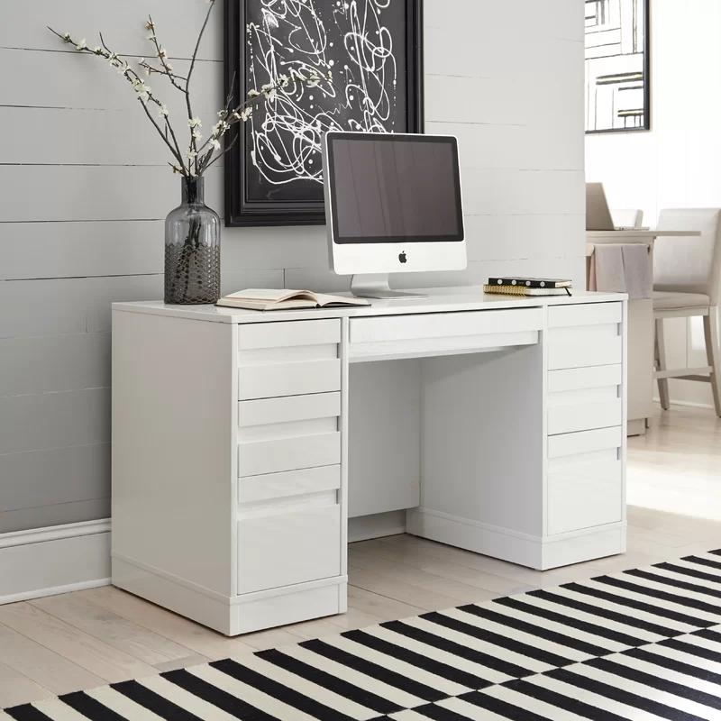 Emblyn Reversible Credenza Desk In 2020 White Desks Home Styles Home