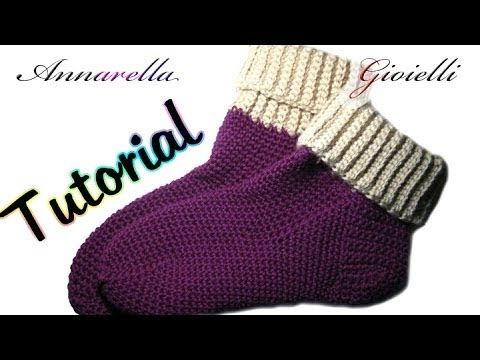 Photo of Tutorial scarpe da notte all'uncinetto | How to crochet socks